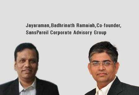 Badhrinath R, Balaji.S and  EA Jayaram,Co-Founder,SansPareil-Corporate-Advisory-Group