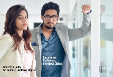Faisal Amin, Dedeepya Reddy,Founders,FruitBowl-Digital
