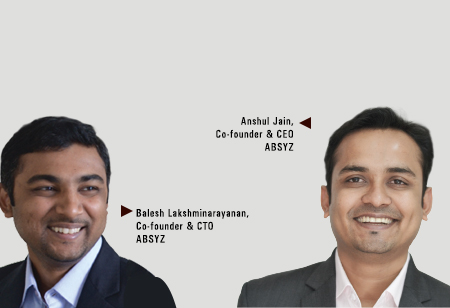 Anshul Jain & Balesh Lakshminarayanan ,Co-founder & CEO & Co-founder & CTO,ABSYZ-Software-Consulting