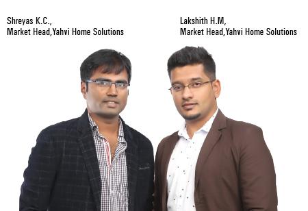 Lakshith H.M and Shreyas K.C.,Market Heads,Yahvi-Home-Solutions